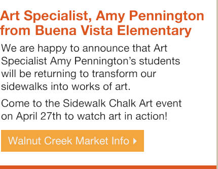 Sidewalk Chalk Art Event on April 27th with Amy Pennington