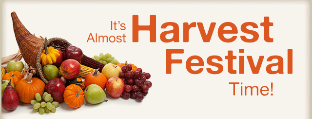 It's almost Harvest Festival Time!