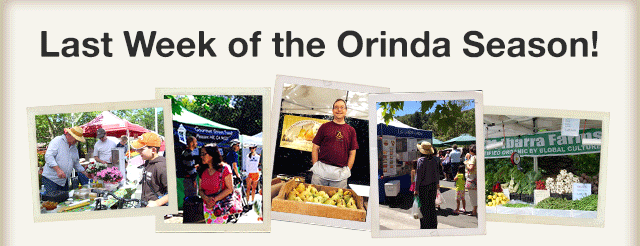 Last Week of the Orinda Market!