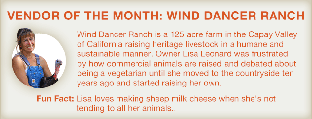 Vendor of the Month: Wind Dancer Ranch