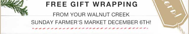 Free Gift Wrapping at the WC Market on Dec. 6!