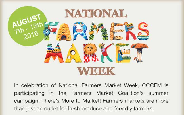 It's National Farmers' Market Week!