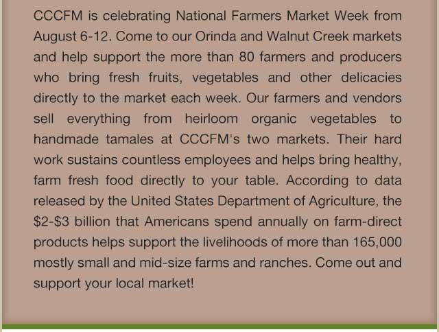 Celebrate Farmers Market Week Aug 6-12!