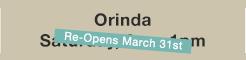 Orinda, Sat. 9-1pm