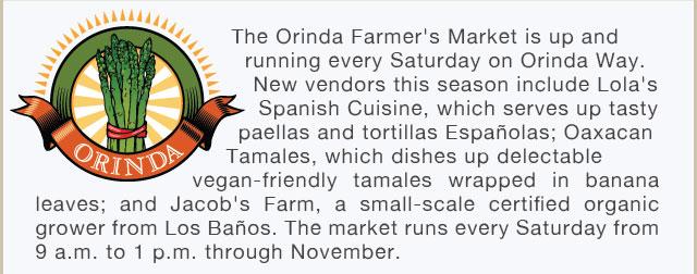 Orinda Farmers' Market is Now Open!