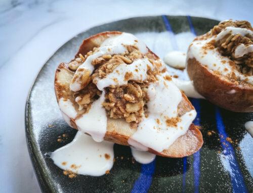 Oat Crisp Stuffed Pears